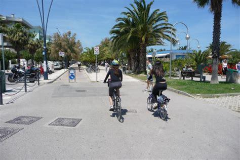 mappa porto d ascoli corridoio verde adriatico pista ciclabile nel parco della