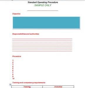 Procedure Template by 37 Best Standard Operating Procedure Sop Templates