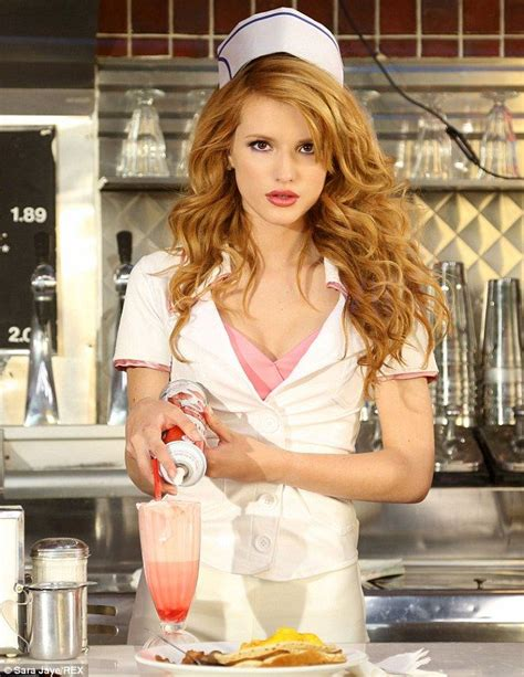 jennifer jason leigh joven bella thorne dresses up like diner waitress in call it