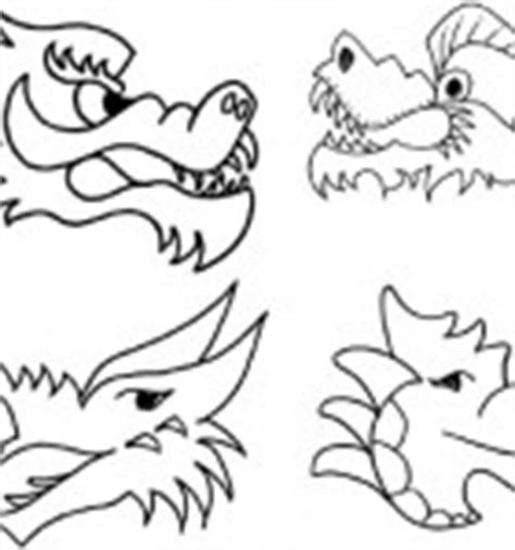 chinese dragon puppet template