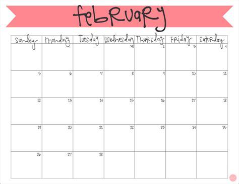 Calendar For February February 2017 Calendar Free Printable Live Craft Eat
