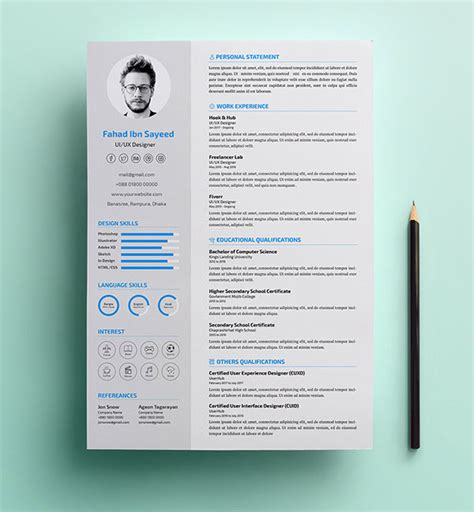 10 fresh free resume design templates 2017 available on