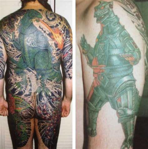tattoo yakuza bedeutung 30 seriously good godzilla tattoos 30 photos