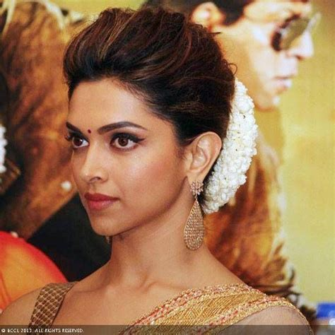 indian hairstyles for engagement function deepika s hairstyle classic indian bun with a gajra
