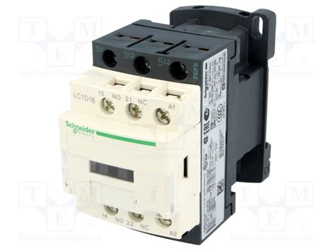 lc1d18b7 schneider electric contactor 3 pole tme