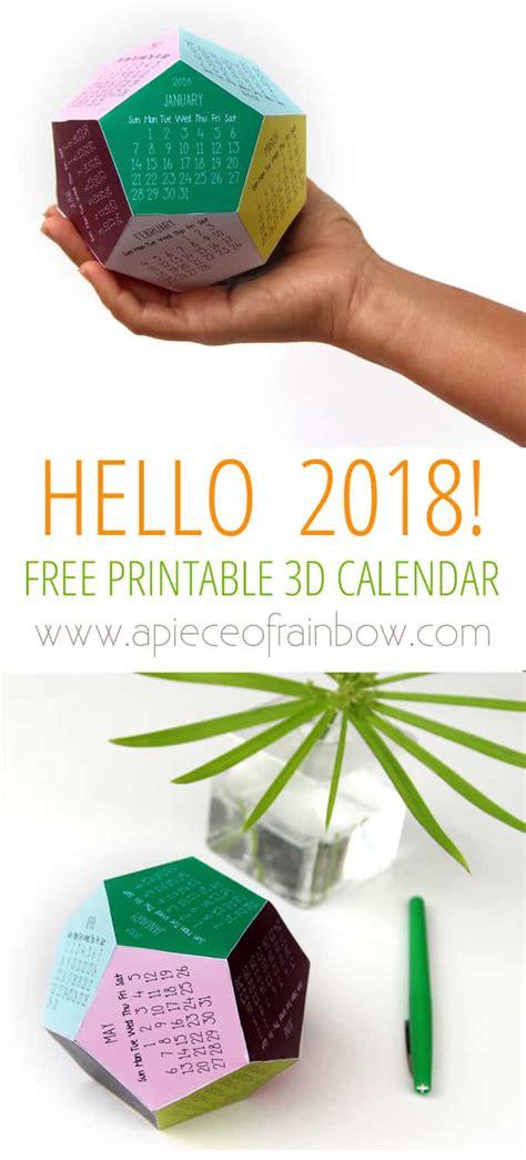 Rainbow Calendar Template free printable calendar template 3d 2018 calendar a