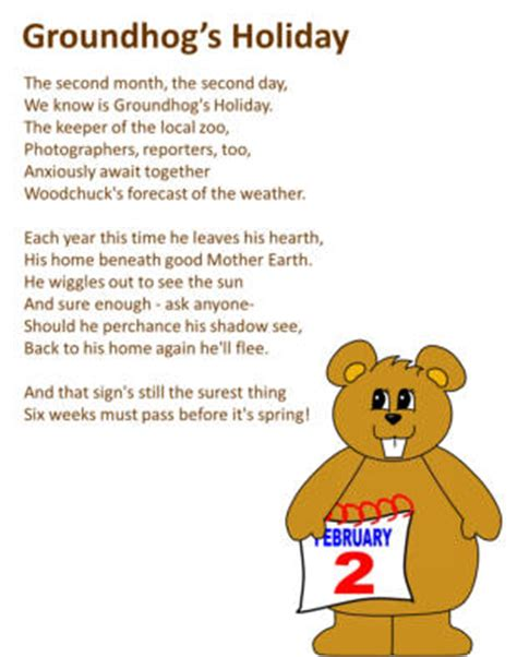 groundhog day poem on groundhog s day poem