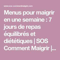 Menu Detox Pour Maigrir by Menus Semaine 233 Quilibre 2 Diet Menu