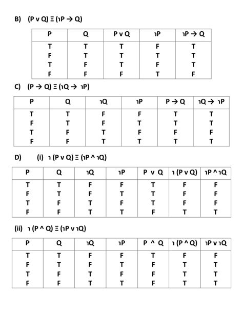 P Q R Table by Exercise 1