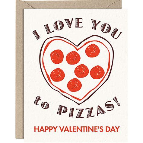 pizza valentines card template s day card craziness the room