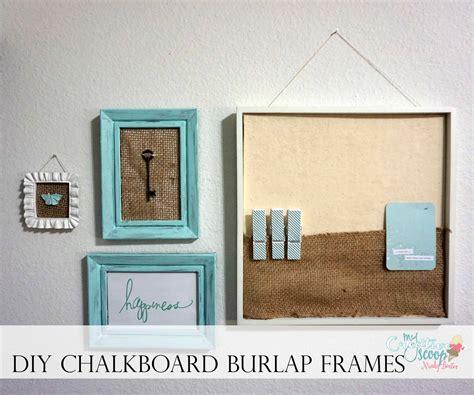 diy chalk paint picture frame diy chalkboard burlap frames