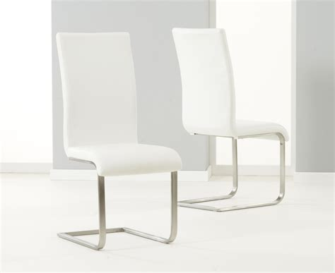 Cheap White Leather Dining Chairs Buy Cheap Dining Chairs Chrome Leather Contemporary Compare Tables Prices For Best Uk Deals