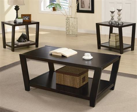 cafe 3 piece occasional set coaster occasional sets 701510 contemporary 3 piece