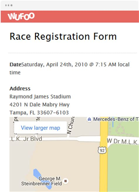 race registration form template form template wufoo