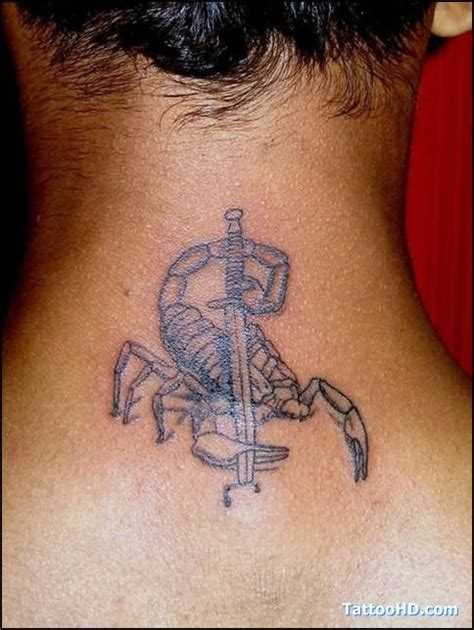 scorpion neck tattoo designs scorpion on back of neck