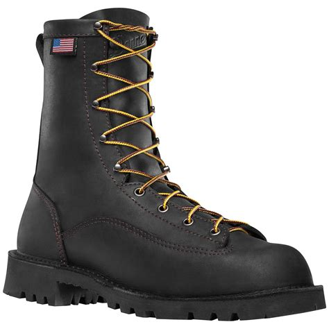 danner work boots danner 174 bull run 8 quot steel toe work boots black 581770