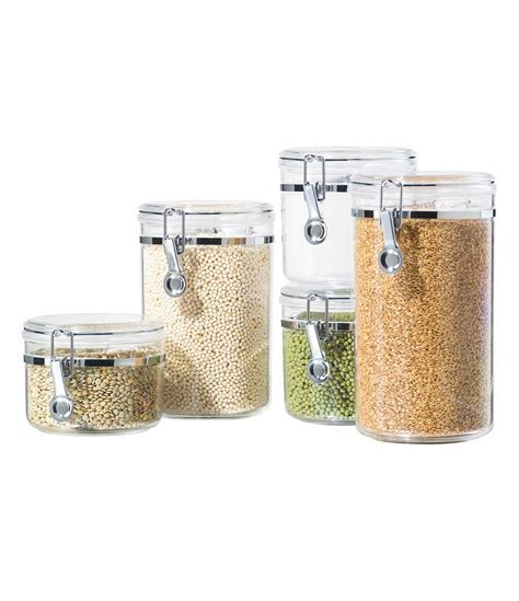dillards kitchen canisters oggi 5 piece airtight acrylic canister set dillards