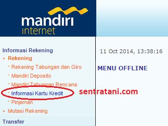 buat kartu kredit via online cara bayar kartu kredit mandiri via internet banking