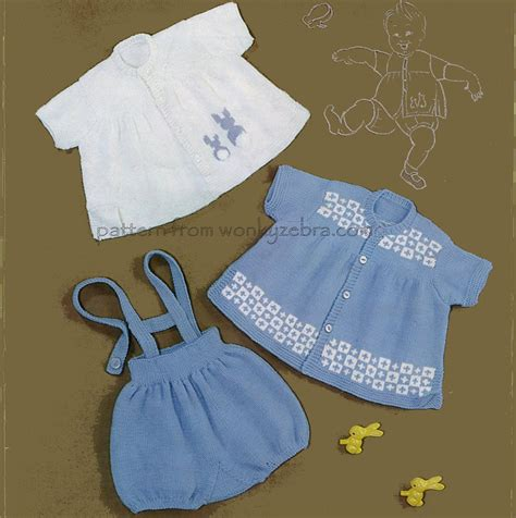 baby clothes pattern pdf knitted romper set baby clothing pattern pdf b022 from