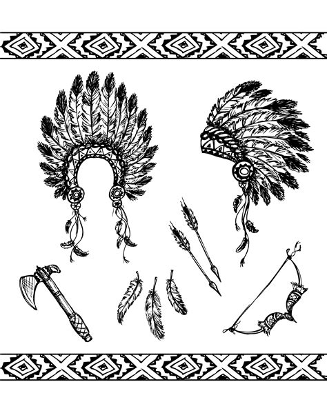 native american symbols native american coloring pages