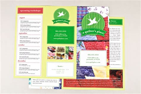 Quilt Shop Brochure Template Inkd Quilt Shop Business Plan Template