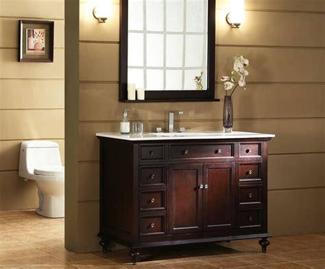 Traditional Bathroom Vanities Glenayre 48 Inch Traditional Bathroom Vanity Espresso Finish