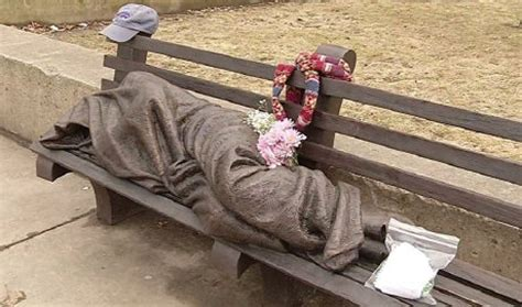 jesus on bench buffalo s homeless jesus sculpture inspires outpouring