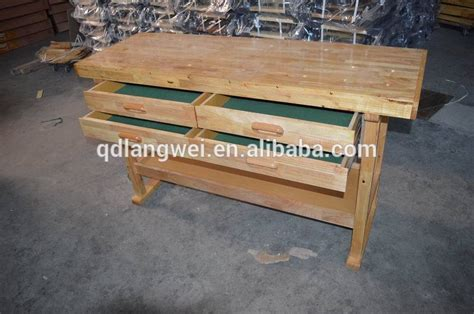 60 Hardwood Workbench With 4 Drawers 60 in 4 drawer hardwood workbench