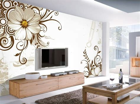 awesome floral background print for bedroom ideas with 12 3d wallpaper for tv wall units that will make a