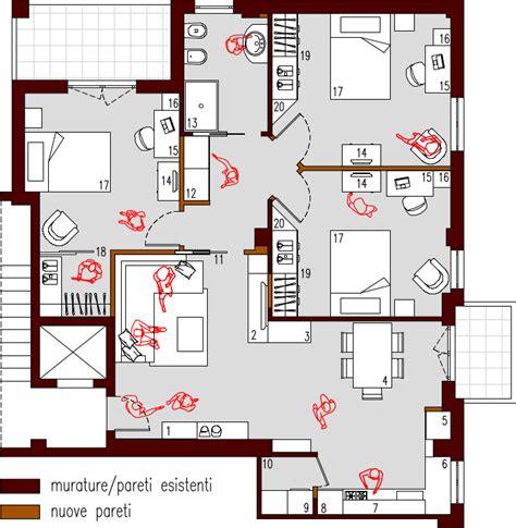Progetto Appartamento 90 Mq progetto 90 mq architettura a domicilio 174