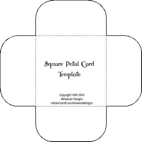 sqaure egift card template ideas para invitaciones de boda moldes para hacer sobres