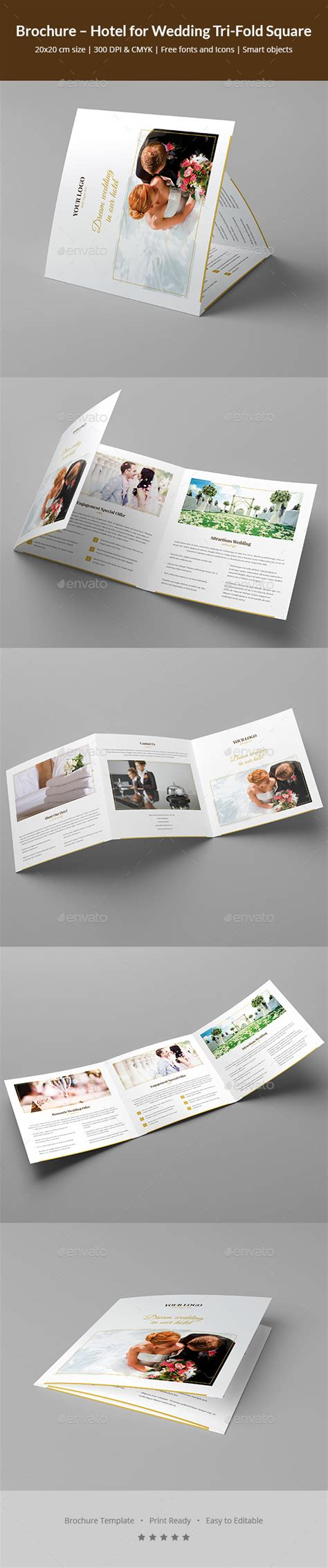 Wedding Brochure Hotel by Brochure Hotel For Wedding Tri Fold Square By Artbart