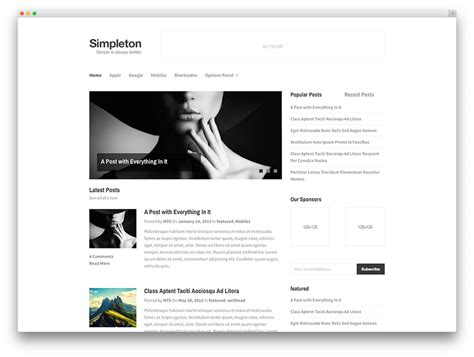 blog layout minimal 20 beautiful simple wordpress themes for writers 2017