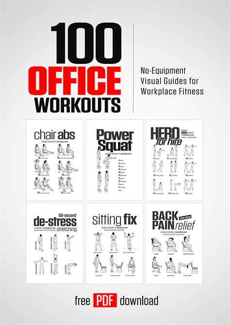 work out at your desk equipment 100 office workouts by darebee
