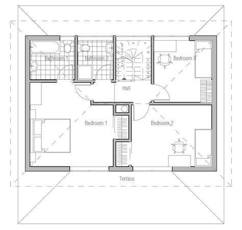 Small House Plan Ch187 Images Floor Plans Small Home Small Home Plans With Cost