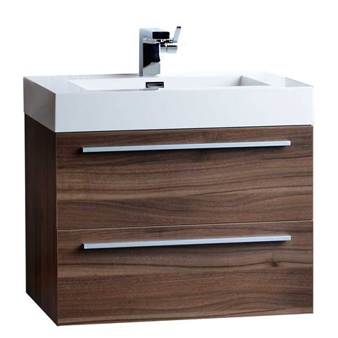 26 75 Quot Single Bathroom Vanity Set In Walnut Tn T690 Wn On 26 Inch Bathroom Vanities