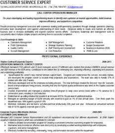 above to save call center operations manager resume