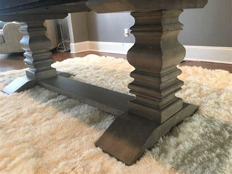 prospect hill dining table prospect hill gray rectangular extendable pedestal dining