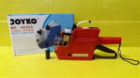 Mesin Alat Label Harga 1 Baris jual price labeller vt 6600 alat label harga 2 baris angka alphabet officemart
