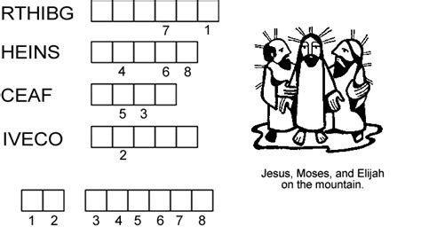 4 Letter Jumbled Words transfiguration word jumble