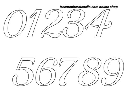 printable calligraphy number stencils 2 inch vintage calligraphy calligraphy style number
