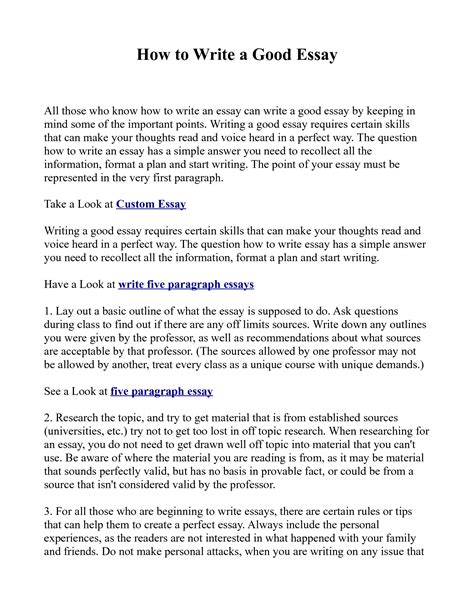 How To Write A Excellent Essay by Essay Exles Gse Bookbinder Co
