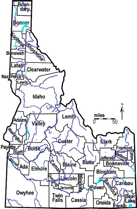 Idaho County Map Outline by Idaho Outline Maps And Map Links