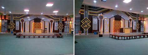 harga desain backdrop pemasangan backdrop ruang taklim masjid istiqamah