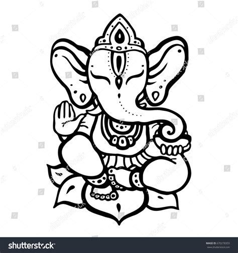 hindu elephant lord ganesha vector hand stock vector