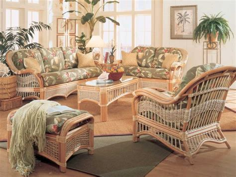 white wicker living room furniture seascape rattan and wicker furniture interior design