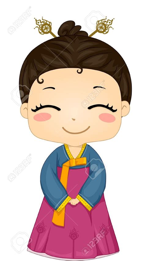 Clip Wedding Korea by Traditional Costume Clipart Korean Pencil And In