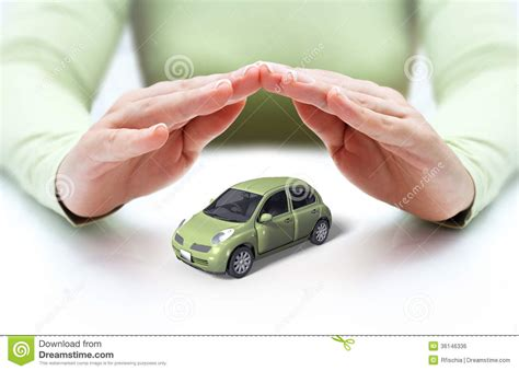 Safety Your Car   Hands Covering Royalty Free Stock Image