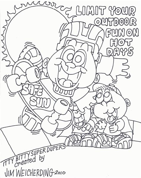 sun block coloring page sun safety coloring pages coloring home
