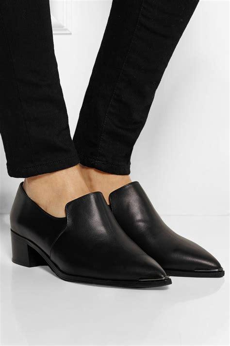 acne studios shoes acne studios jaycee leather loafers net a porter